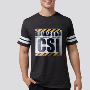 Warning: CSI Mens Football Shirt